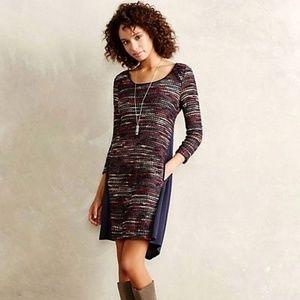 [Anthro] Maeve Marled Stripe Multi Swing Dress XS